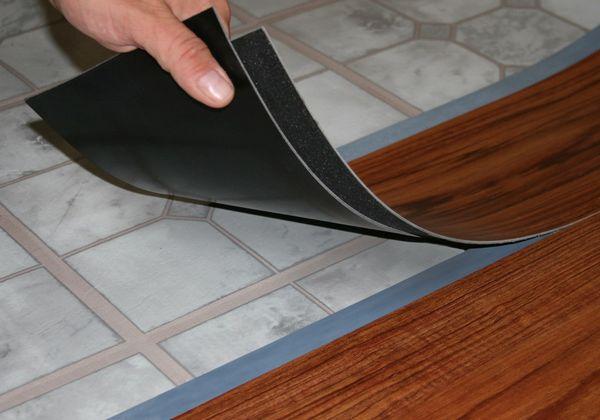 Напольное покрытие плитка пвх
