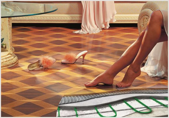 Электрический теплый пол на деревянный пол – варианты обустройства —