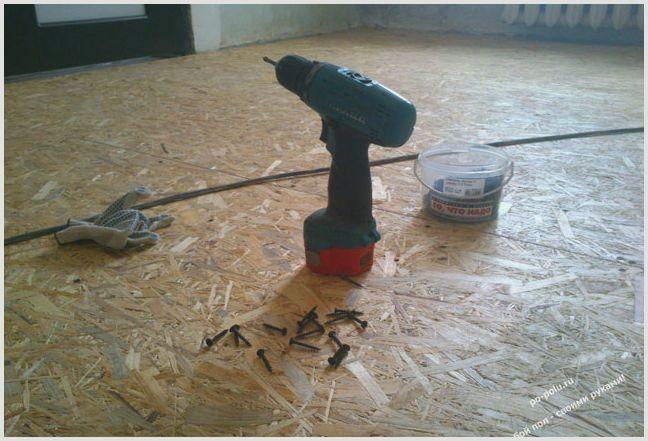 Укладка дсп под линолеум — инструкция —