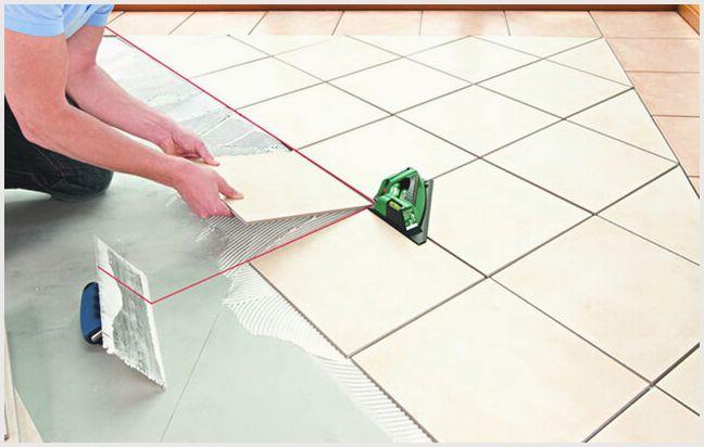 Укладка плитки на пол по диагонали – как правильно —